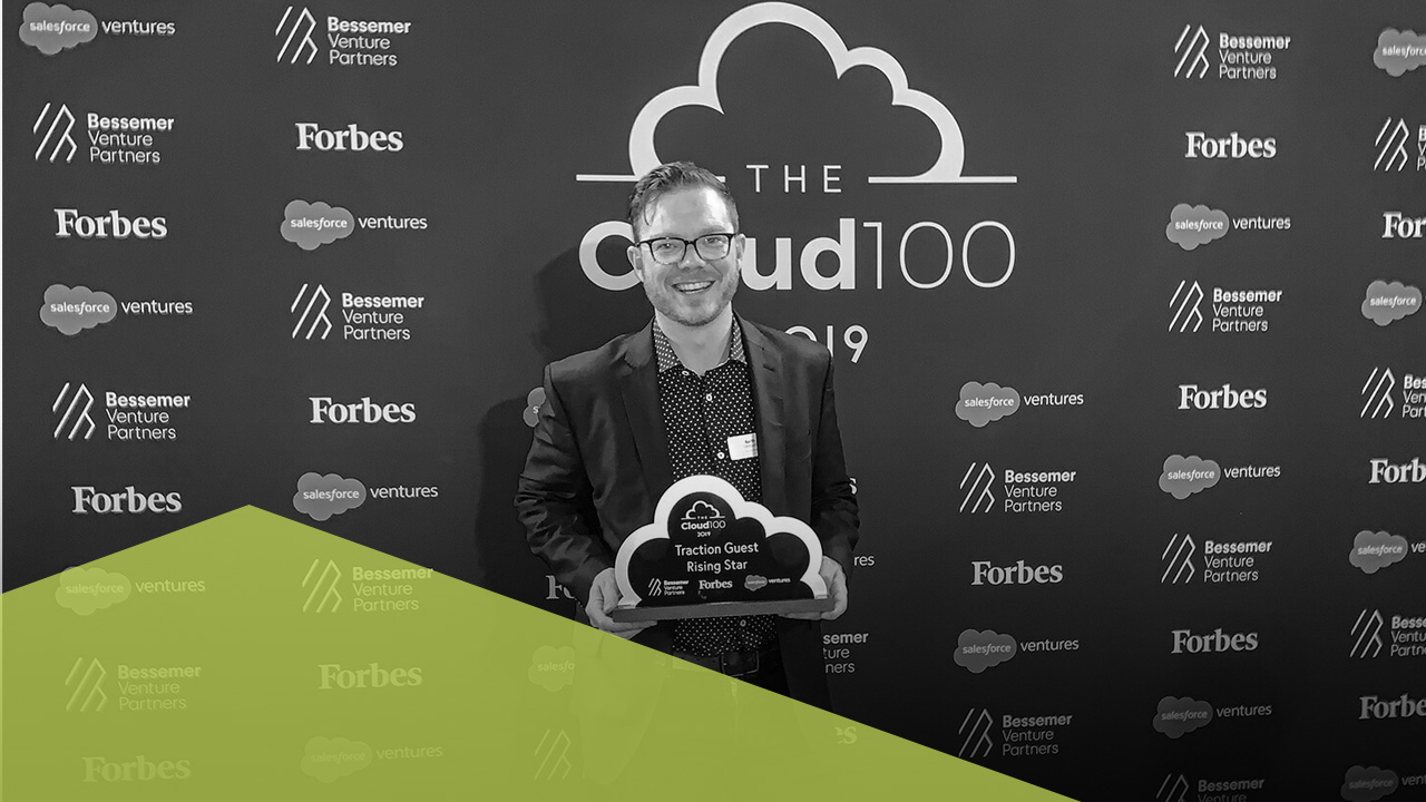 Keith with Forbes Cloud 100 Star Award