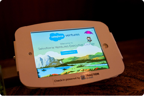 Photo of the Salesforce Ventures VMS using Traction Guest