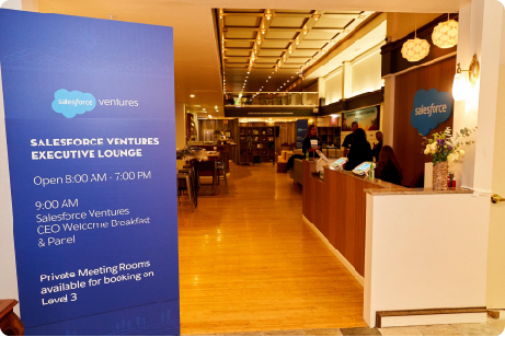 Photo looking into Salesforce Ventures Executive Lounge